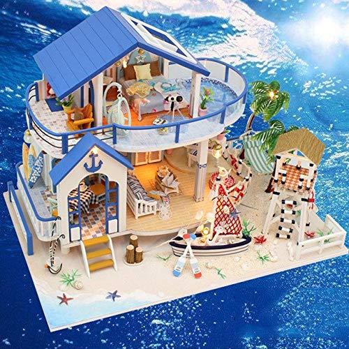 DishyKooker fai da Te casa delle Bambole in Legno, Modello Villa in Miniatura con Furnitures Building Toys Gift Legend of blu Sea 13844   e Show