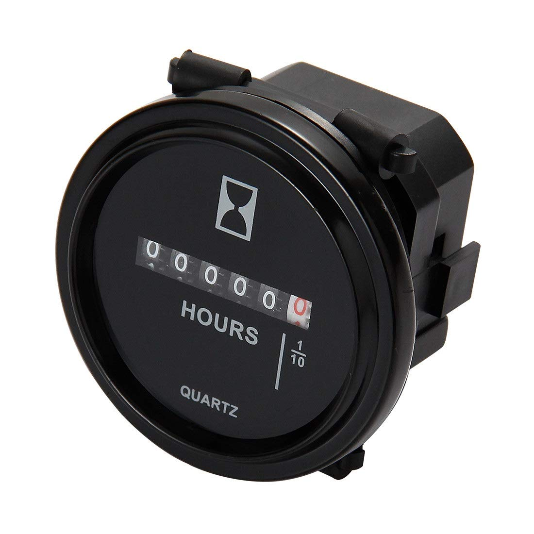 Mechanical Hour Meter Gauge - AIMILAR Professional Engine Hourmeter AC110-250V for Boat Auto ATV UTV Snowmobile Lawn Tractors Generators