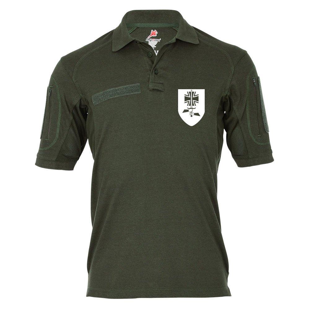 Copytec Tactical Poloshirt Alfa - Führungs Unterstützungszug Deutsch Niederländische Korps Wappen Bundeswehr Hemd  18953