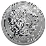 2012 AU Australia 1/2 oz Silver Year of the Dragon BU 1/2 OZ Brilliant Uncirculated