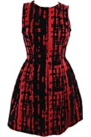 Calvin Klein Women's Plus-Size Flocked Fit-And-Flare Dress