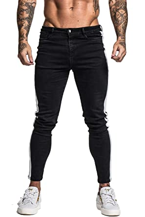4e0aa6c4c4 GINGTTO Skinny Jeans for Men Stretch Slim Fit Ripped Distressed at ...