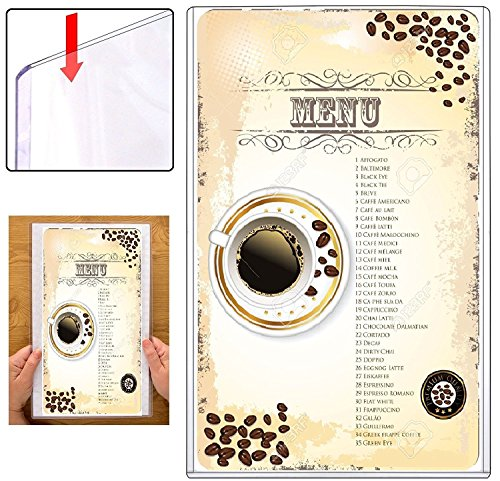 Rigid Plastic Menu Covers 100-Pack - 8.5