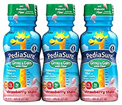 Pediasure With Fiber Nutrition Drink Bottles - Strawberry - 8 oz - 24 pk