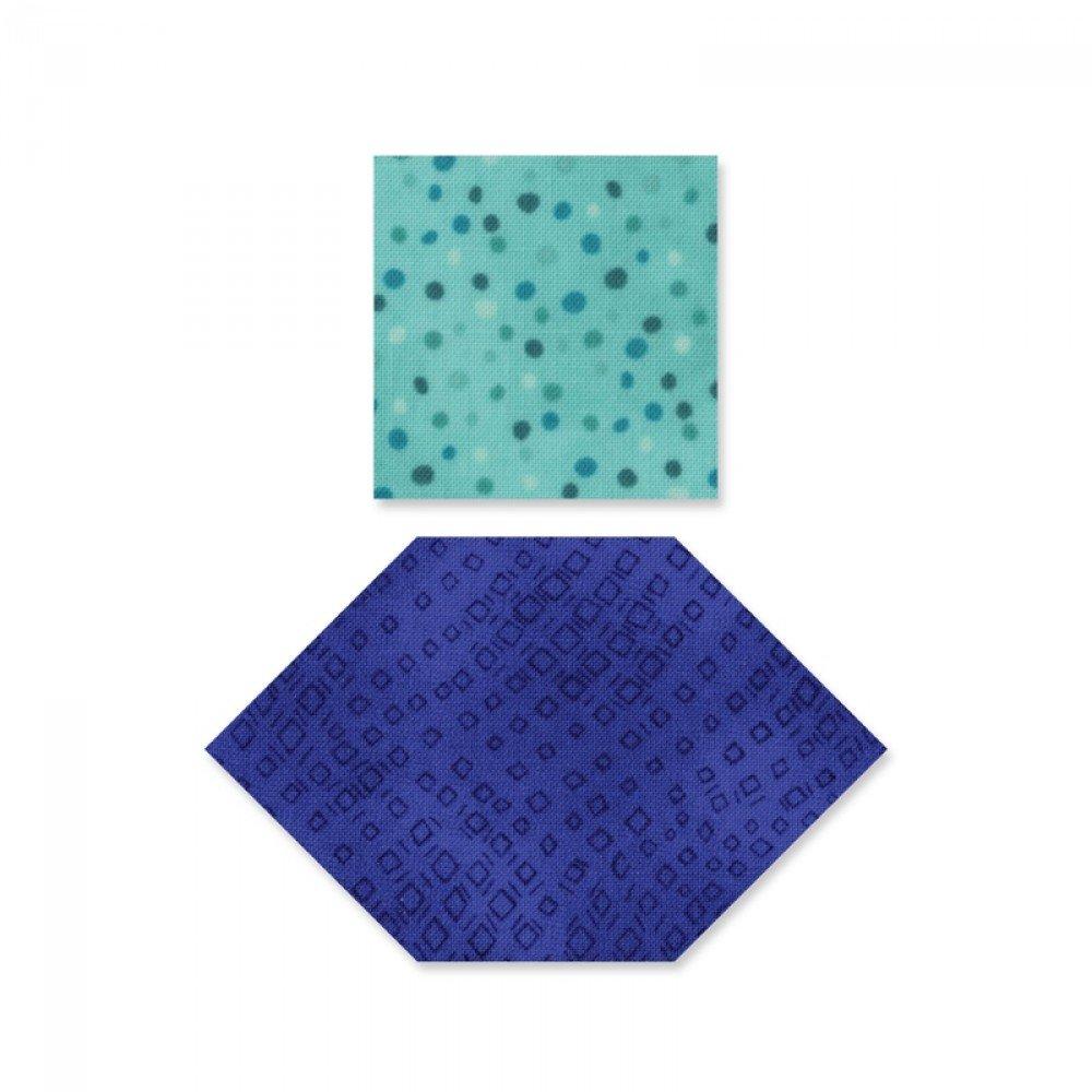 Sizzix 660917 Honigwaben und Quardrate Bigs Stanze, Plastik/Holz / Stahl, Mehrfarbig, 17.39 x 14 x 1.9 cm Ellison