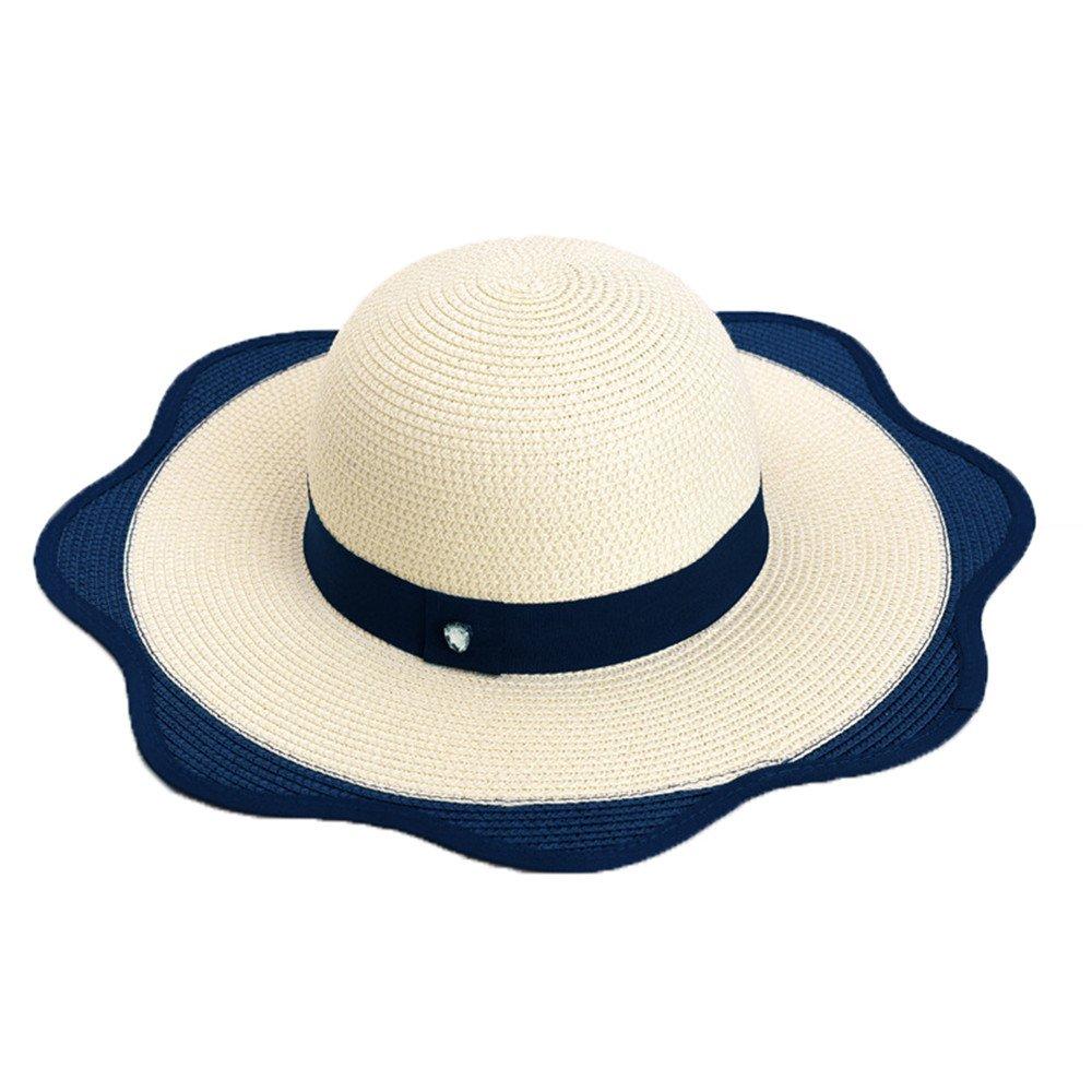 Sombrero del Sol Gorra de Jipijapa Paja Verano Primavera Plegable Mujer  Niñas  Amazon.es  Ropa y accesorios 32be6d27f5f