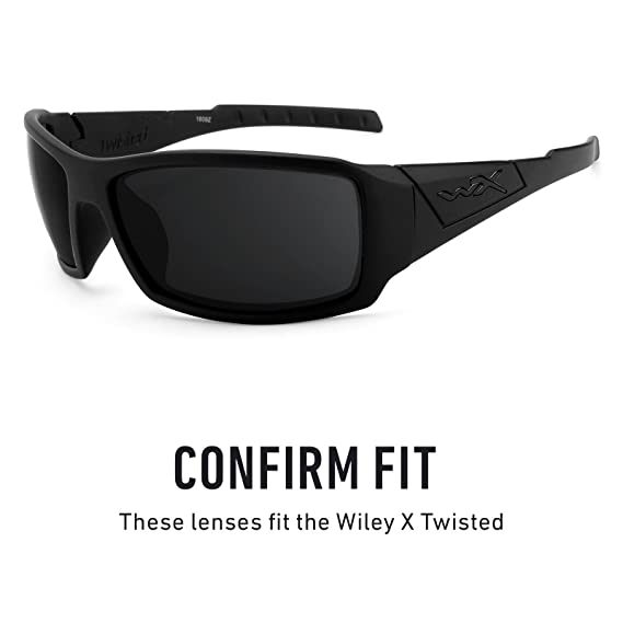 0566f78d26 Amazon.com  Revant Polarized Replacement Lenses for Wiley X Twisted Elite  Black Chrome MirrorShield  Sports   Outdoors