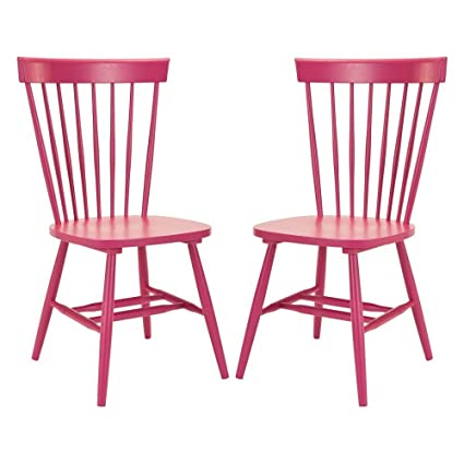 Wondrous Parker Spindle Dining Chair Raspberry Set Of 2 Andrewgaddart Wooden Chair Designs For Living Room Andrewgaddartcom