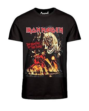 Jack & Jones Herren T-Shirt - Iron Maden - Metallica - Motörhead Tee,