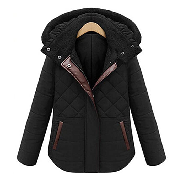 Amazon.com: Pandamum Womens Winter Coat Jacket Quilted ...
