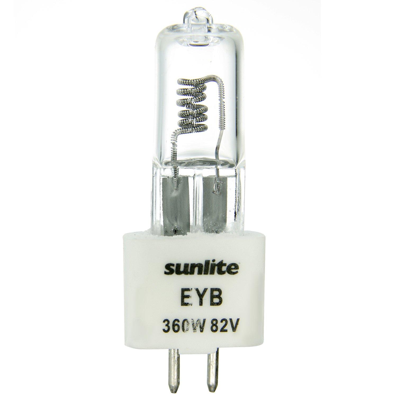 Sunlite EYB 360W T3.5 82V CL G5.3 360 watt 82 volt Bi Pin Based Stage and Studio T3.5 Bulb Clear