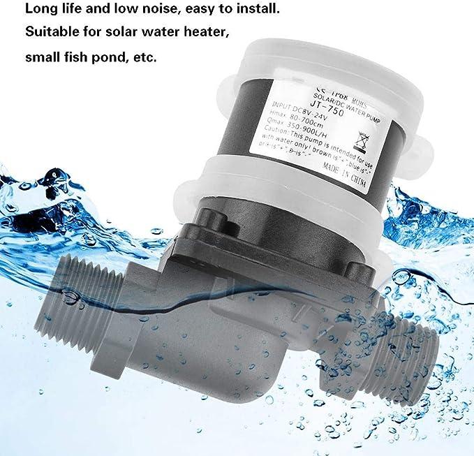 Dc 24v Brushless Wasserpumpe Für Solarwarmwasserbereiter Kleiner Fischteich Aquarium Gartenteich Fall Fisch Behälter Wasser Brunnen Unterhaltung 40 100 Beleuchtung
