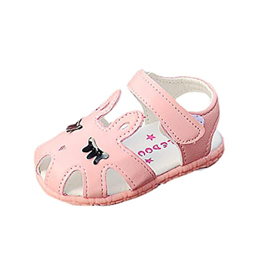 a7f4659c4f065 Amazon.com: LNGRY Baby Sandals, Fashion Baby Girls Leather Single ...