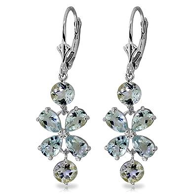 Amazon 532 carat 14k solid white gold chandelier earrings 532 carat 14k solid white gold chandelier earrings aquamarine aloadofball Images