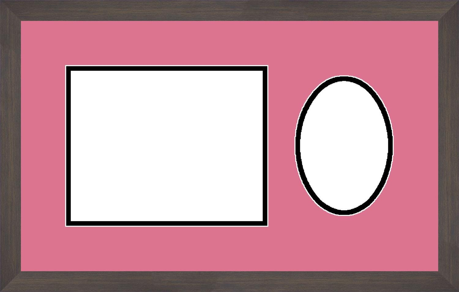 1.25-Inch Wide Espresso Art to Frames Double-Multimat-478-863//89-FRBW26061 20 by 12-Inch Picture Frame
