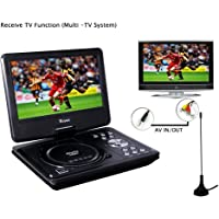 Buyee 9.5-inch Swivel Screen Handheld Portable DVD Player Remote Car Adapter DVD VCD Cd Sd Mp3 Mp4 USB Tv Game in Car Car Adapter