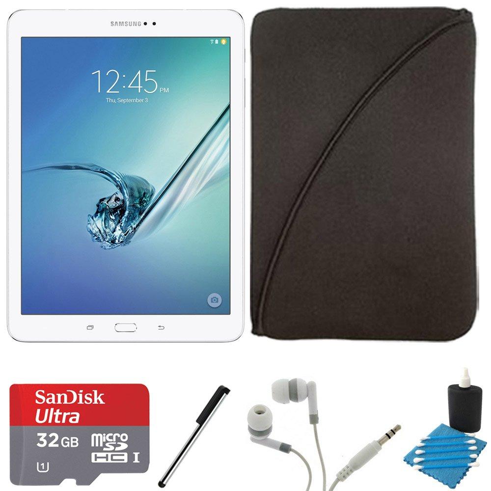 Samsung Galaxy Tab S2 9.7'' Wi-Fi Tablet (White/32GB) SM-T810NZWEXAR 32GB MicroSDHC Memory Card Bundle includes Galaxy Tab S2, 32GB MicroSDHC Memory Card, Stylus Stylus Pen, Protective Tablet Sleeve by Samsung