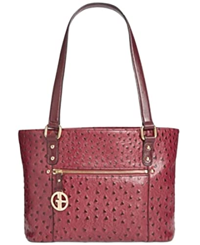 Image Unavailable. Image not available for. Color  Giani Bernini Ostrich-Embossed  Tote ... 4fe49e72f2