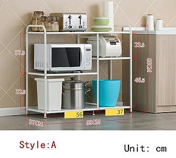 LXSnail Küche Regal/Mikrowelle Rack/Boden Edelstahl Regal ...