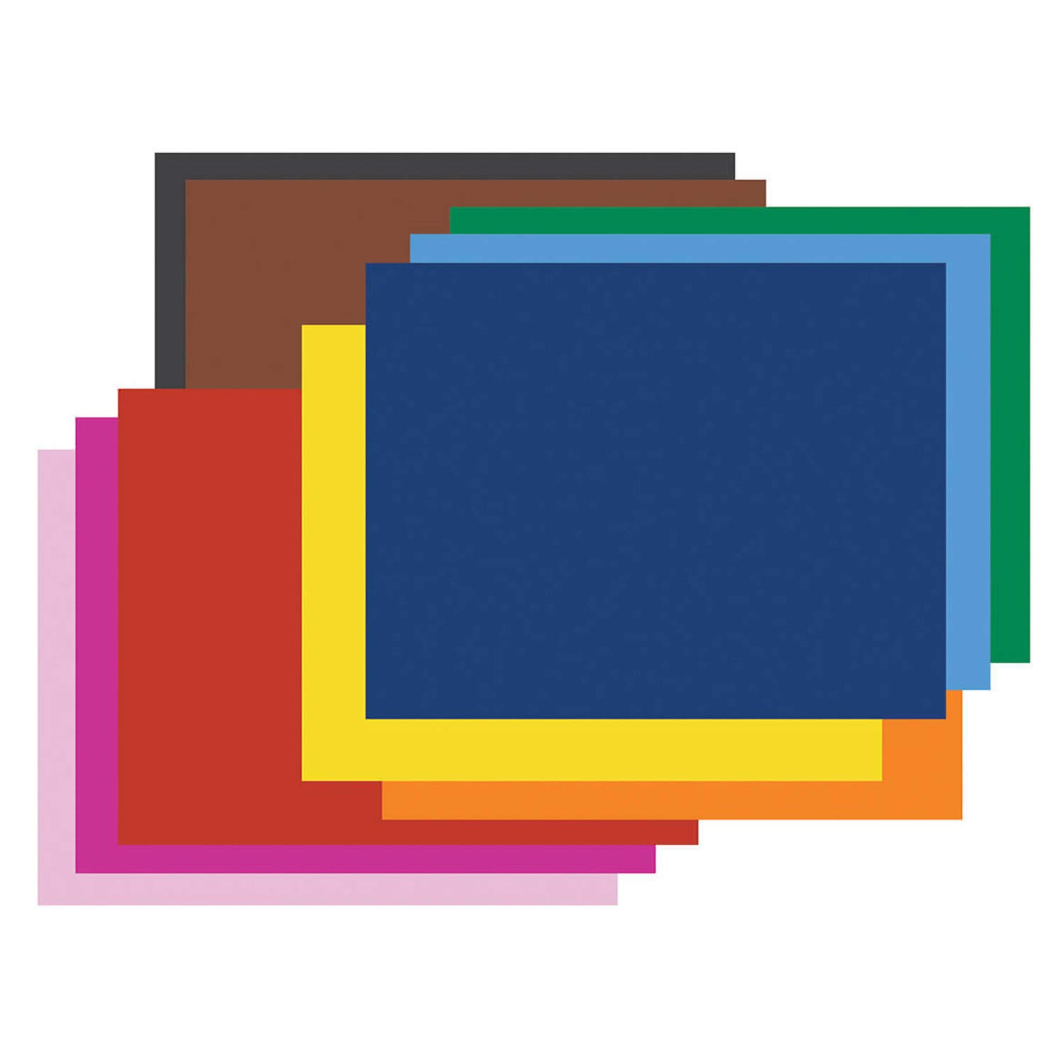 Pacon PAC54872 4-Ply Railroad Board, 10 Assorted Colors, 22'' x 28'', 50 Sheets by Pacon