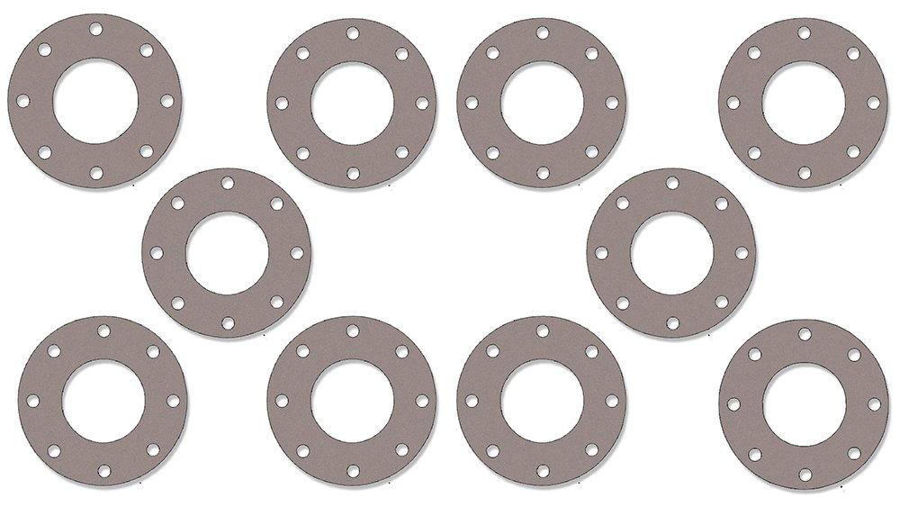 Pressure Class 300# 5.56 ID Sterling Seal CFF7540.5IN.062.300X10 7540 Vegetable Fiber Full Face Gasket 1//16 Thick 5 Pipe Size Pack of 10