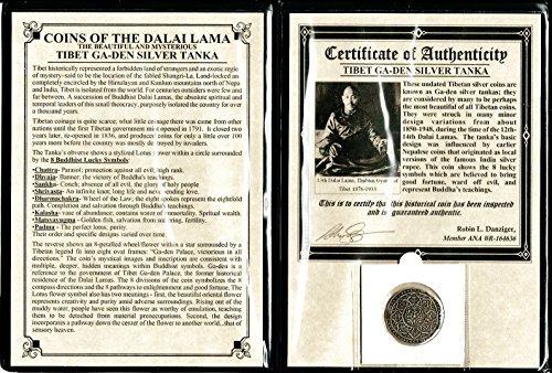 1791 NP Tibet Tibet Silver Tanka Coin of the Dalai Lama with Album And Certificate Tanka Fine (Lotus Coin)