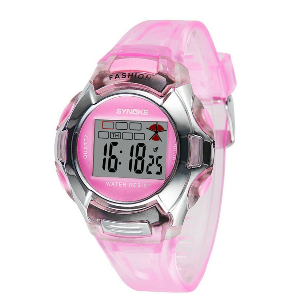Amazon.com: Water-proof Multi Function Digital Outdoor Kids Sport Watches For 5-10 Years Old Boys Girls Pink: Watches