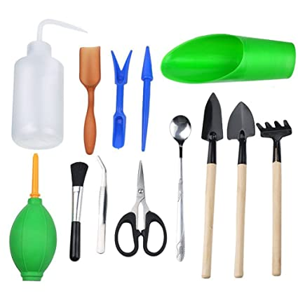 Attrayant WElinks 13Pcs Mini Gardening Hand Tools Sets, Miniature Planting Gardening  Tool For Succulent Transplanting Small