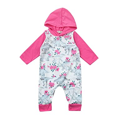 b07edc015757 Stylish Baby Boys Girls Dinosaur Romper Hoodie Jumpsuit Long Sleeve Onesies  Cute Outfits Clothes Sewing Patterns ...
