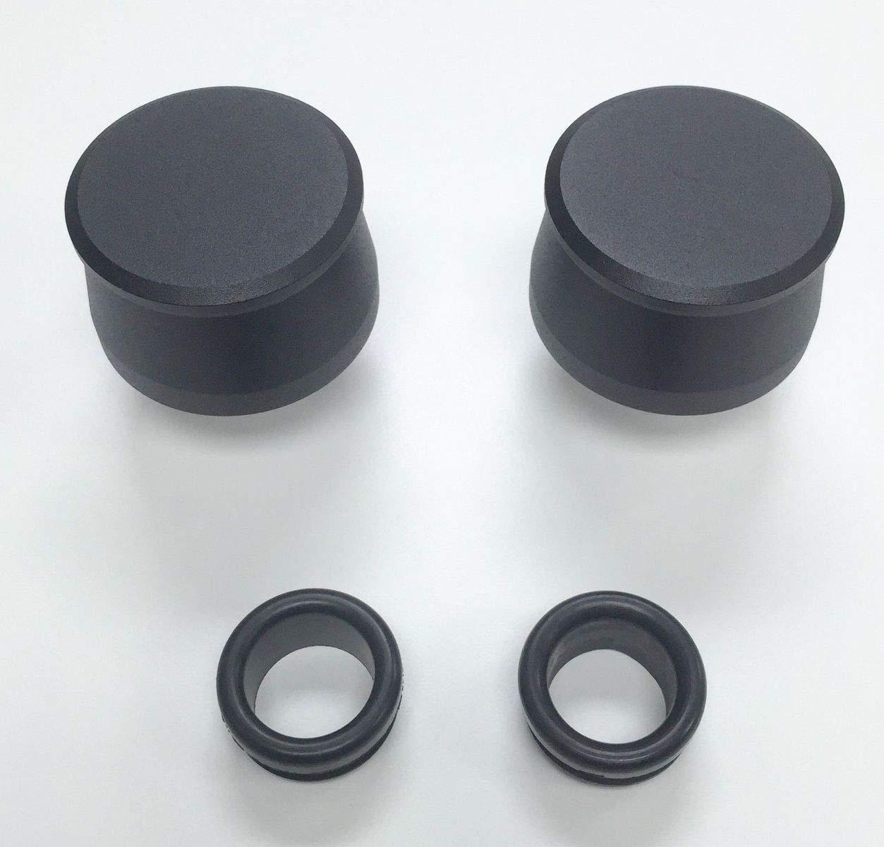 Pirate Mfg Hot Rod Black Billet Aluminum Valve Cover Breather Kit W//Grommet SBC BBC V8