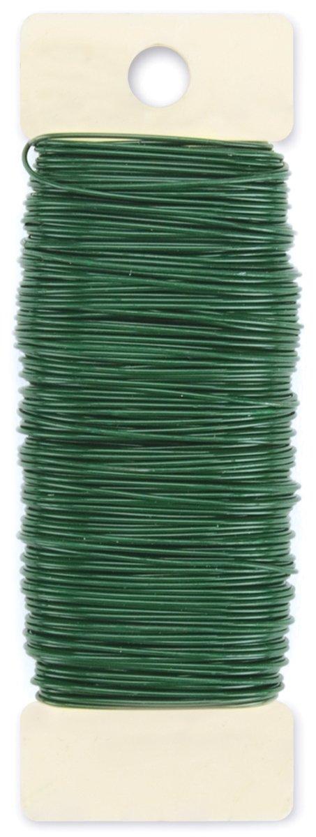 Darice Paddle Wire, 22-Gauge, Green, 38 Yards,