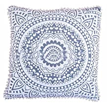 Euro Pillow Cover 26x26, Ombre Mandala Floor Cushion, Decorative Throw Pillow Cases, Indian Outdoor Cushion Cover, Pom Pom Pillow Shams