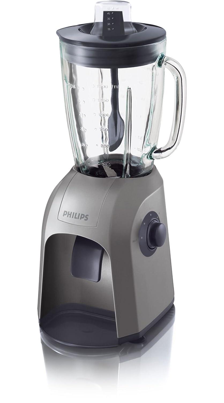 Philips HR2800 500 W con jarra de cristal de 2 l y espátula Batidora, Cristal, Acero inoxidable, Plástico pintado con spray, Plata, 220 - Licuadora: ...