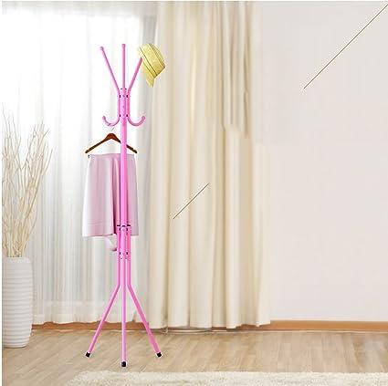 Exceptional Appendiabiti Multifunzione Atterraggio Rack Appendiabiti Camera Metallo  Creativo Gancio ( Colore : Rosa )