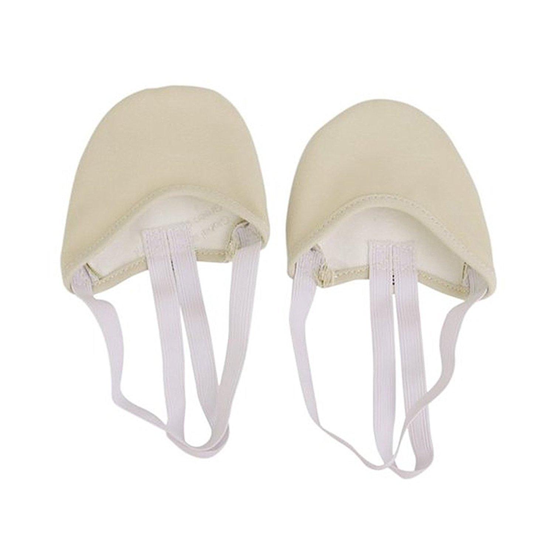 TOOGOO Beige S Ballet Dance Shoes Canvas Half Ballet Dance Soles Pirouette Shoes R