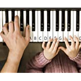 SCRIB Piano Stickers for Keys Easy Installation Transparent and Removable for 49 / 61 / 76 / 88 Keyboards Clean Design