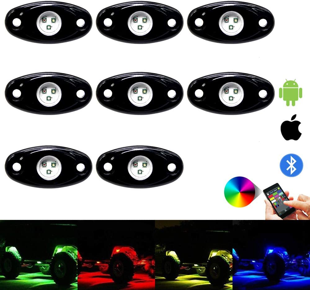 BLUE 5 LED POD ACCENT LIGHT Wire Attached Motorcycle//Car//Home//ATV//BOAT 12V DIY