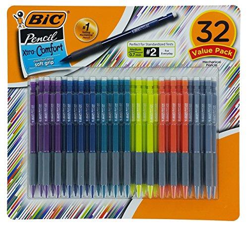 Comfort Pencil (BIC Matic Grip Mechanical Pencil, HB NO 2, 0.7 mm, 32 Pencil)