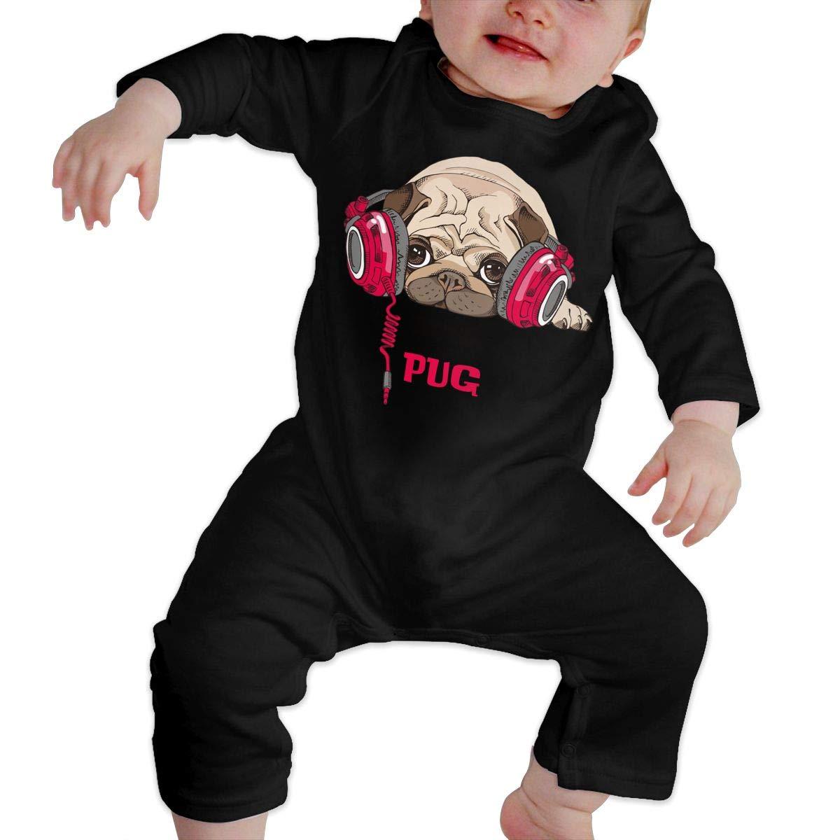 AucCen Babys Pug Jumpsuit Bodysuit Clothes Long Sleeve One-Piece Coverall 100/% Organic Cotton