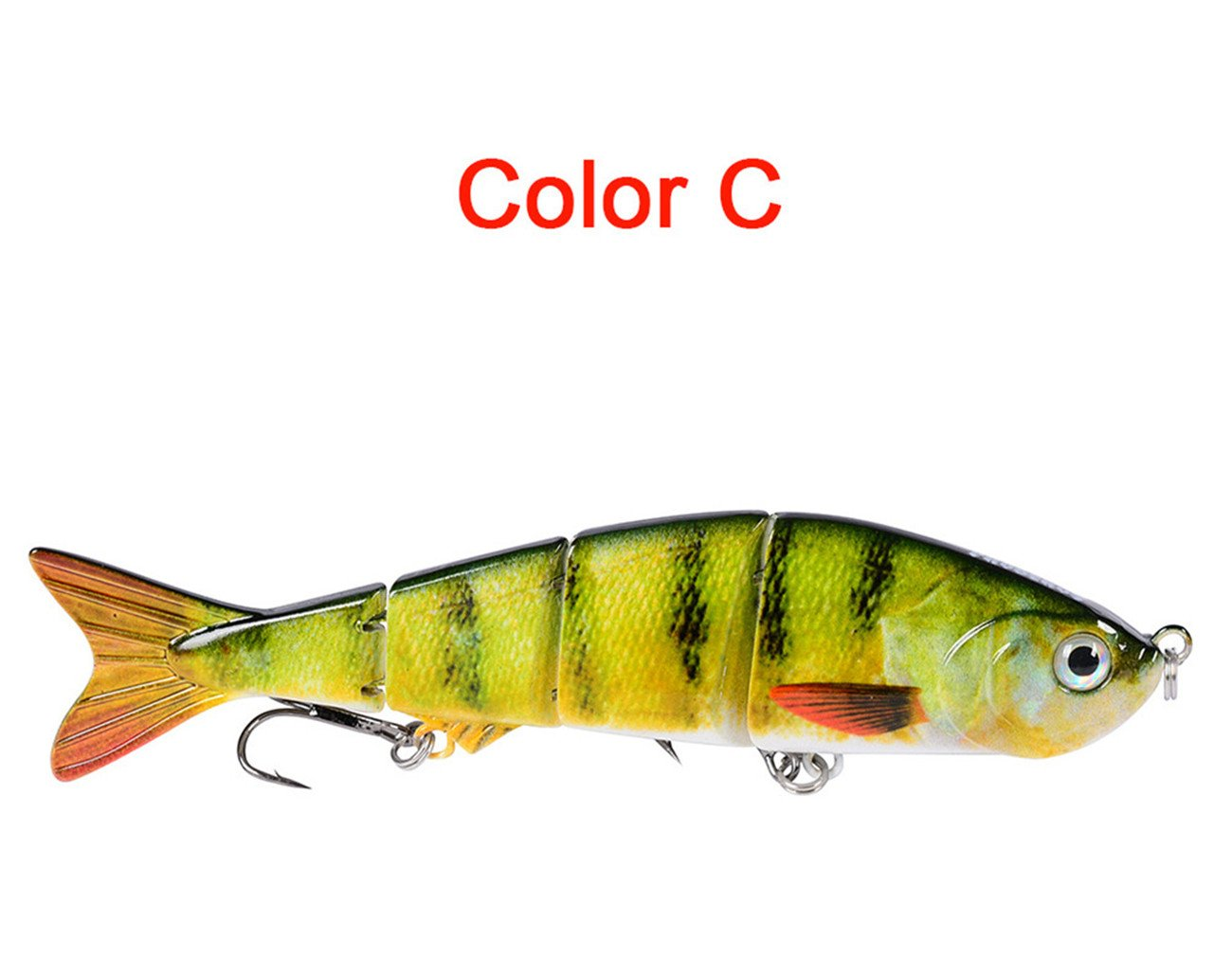 Life-like Multi-section Floating Lures,12cm//17g Classic Lure Bait Plastic Hard Bait 7 Random Colour MKNzone 1 pc Multi-jointed Fishing Lure