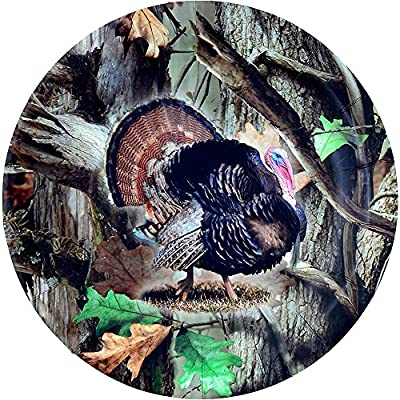 Turkey Hunting Plate, Camo Dinner Plate (9