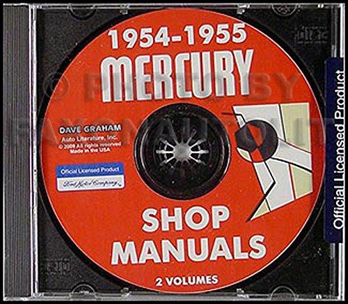 1954-1955 Mercury Shop Manual Monterey Montclair Custom Repair Service