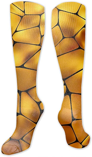 Mens Athletic Cushion Crew Sock Roses And Leopard Skin Background Long Sock Breathable