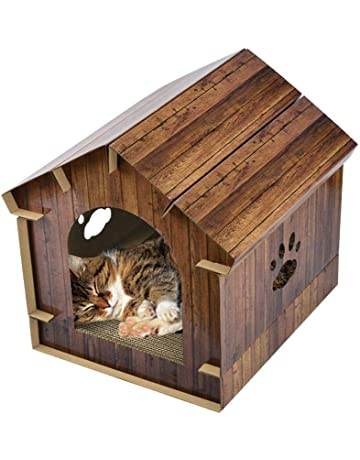 AIHOME 3 en 1 Gato Casa de cartón Ondulado, Gato hogar Grande, Premium Gato