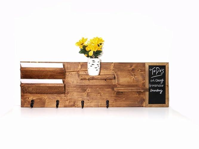Very Amazon.com: Wood and chalkboard entryway organizer: Handmade XI26