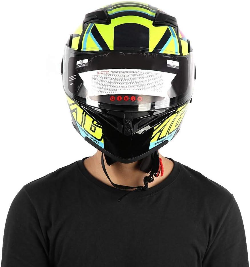 Cikonielf Casque de moto pour adulte avec fermeture rapide avec bande en caoutchouc M facultatif L XXL XL XL 61 cm bis 62 cm