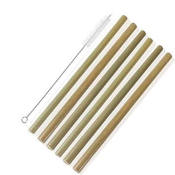 Lezed Bambus Trinkhalme 23 Cm Set Von 6 Wiederverwendbare Bambus