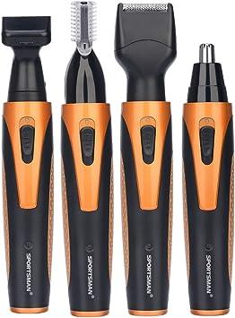 Depiladora eléctrica 4 en 1, nariz, orejas, cejas, cortapelos ...