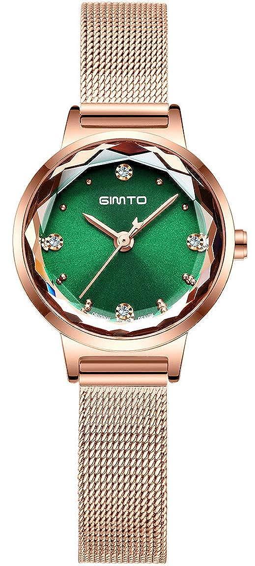 Gimto - Reloj analógico de Cuarzo para Mujer, Esfera pequeña ...