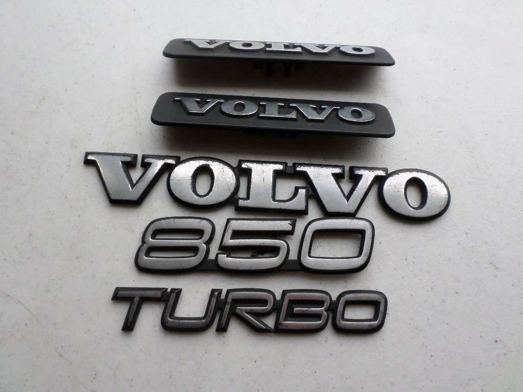 Amazon.com: 94-97 Volvo 850 Turbo Side Door Fender 20244 Rear Trunk Emblem Logo Badge Set of 5 Decals: Automotive